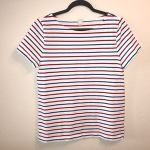 J. Crew Ladder-Striped T-Shirt